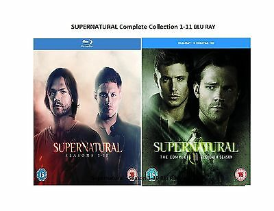 SUPERNATURAL COMPLETE COLLECTION 1-11 Blu-ray Season 12 34 5 6 7 8 9 10 11 UK R2