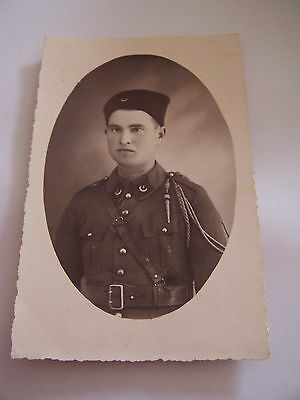 Vintage RP WW2 Postcard French Military Soldier in Uniform 1939