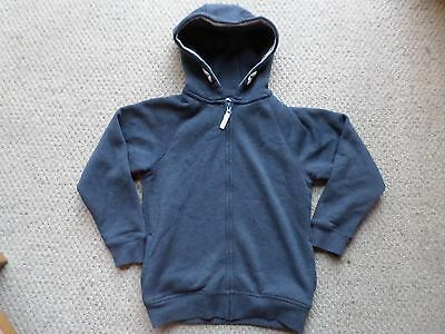 Boys Matalan Awesome Apparel Blue Grey Zip Up Hoodie - Age 8 Years