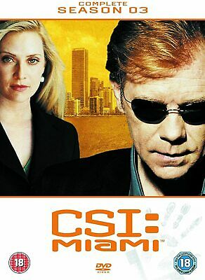 CSI MIAMI COMPLETE SERIES 3 DVD All Episdoes C.S.I. Third Season Original UK Rel