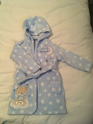 George Baby Boy Dressing Gown 12-18M