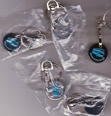 x5 New Trolley Tokens with Clasps x5