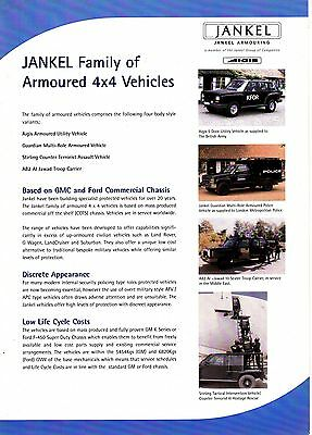 JANKEL Armouring - Armoured 4x4 Vehicles Advertising Sheet