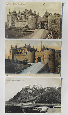 Group of Three Vintage Postcards Stirling Castle Scotland