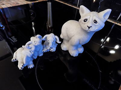 Quarry Critters.Elephant and cat Figurine. Collectable