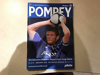 Signed Portsmouth Football Programme