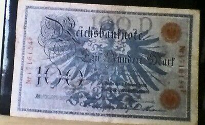 1908 German 100 Mark Banknote