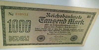 1922 German 1000Mark Banknote