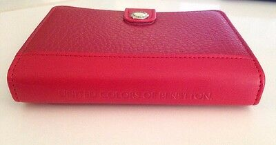 Notebook Organizer Day Timer Red Leather United Colors Of Benetton