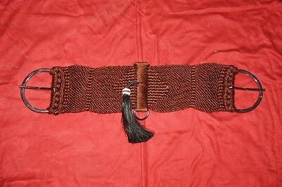 Western Surcingle Cotton brown with Tassel also for Ponys