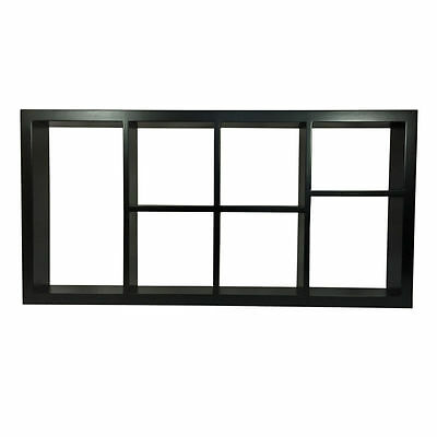 WHITE BLACK Wall Cube Shelf 7 Pigeon Holes Storage Decor Display boy girl toys