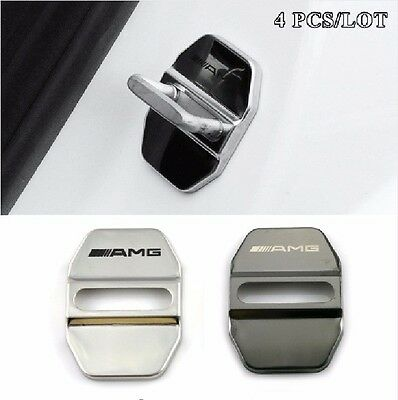 Stainless Steel Car JDM Door Lock Cover For MERCEDES BENZ W211 AMG W204 W210