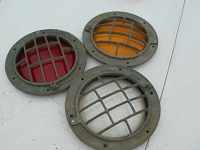 two marine brass port hole or deck light cover  solid brass 10 1/2 in with glass