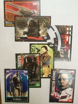 Star Wars Rogue One Trading Cards. Set 5