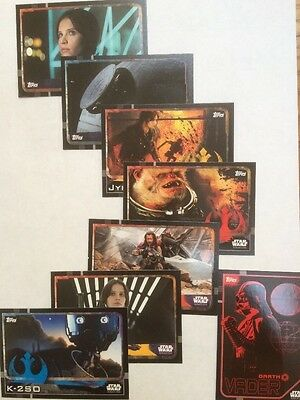 Star Wars Rogue One Trading Cards. Set 6