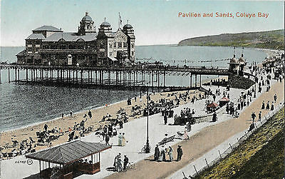 RP Card COLWYN BAY PAVILION & SANDS - Valentine's Card - Unposted