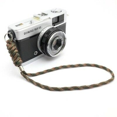 "The ""Cordy Lite"" Camo Paracord Camera Wrist Strap - Handmade by Cordweaver"