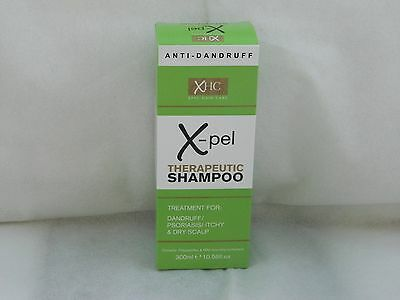 XPEL THERAPEUTIC SHAMPOO TREATMENT FOR: DANDRUFF PSORIASIS ITCHY DRY SCALP 300ml