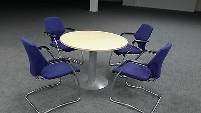 Round conference table & 4 chairs