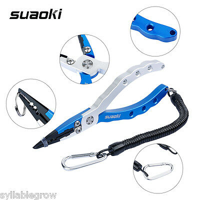 6.9 Inches Aluminum Alloy Saltwater Fishing Plier Tool with Stainless Steel Jaws