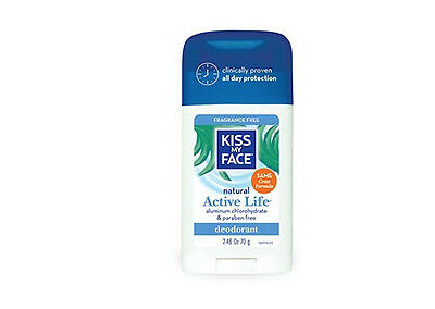 Kiss My Face Natural Active Life Deodorant Unisex Fragrance Free 2.48oz