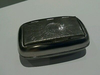 Antique Silver Plated Snuff Box