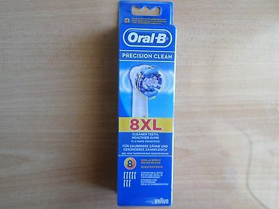 Braun Oral B Precision Clean Toothbrush Heads 8 Pack Brand New And Sealed