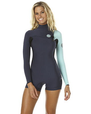 New Rip Curl Women's G Bomb Ls Zl Spring Wetsuit Womens Steamer Blue