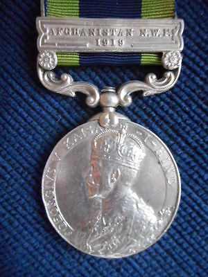 India General Service Medal Clasp Nwf 1919 To Rare Rank