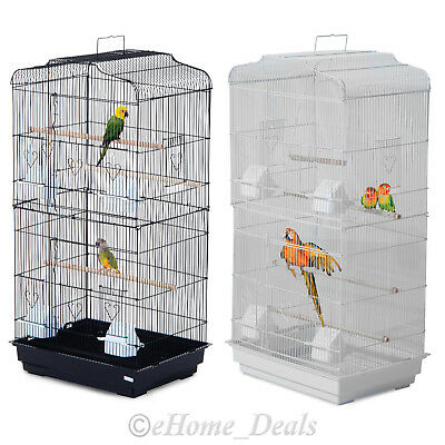 XL Large Metal Bird Cage For Macaw Budgie Canary Parakeet Cockatiel Finch Parrot