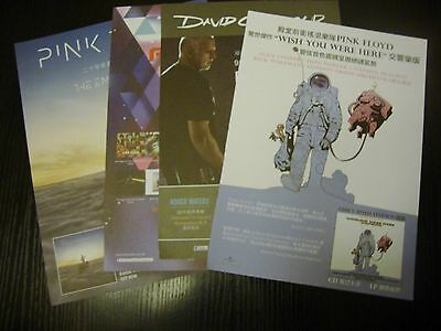 Pink Floyd Album AD clippings 4X from Hong Kong magazine flyer mini poster