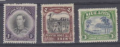Niue 1938 set Sg 75-7 m-mint