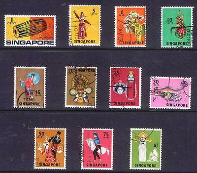 Singapore 1968 Singaporean Costumes and Artefacts - Used SS with values to S$1