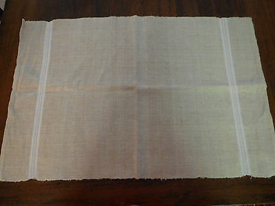 Hemp Linen Towel Natural W/ White Stripes New