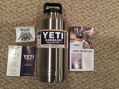 Brand New Yeti Rambler 64 oz Stainless Steel Bottle with Lid