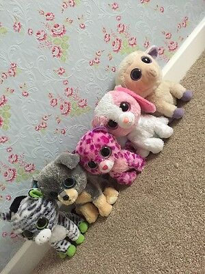"Bundle Of 5 9"" Beanie Boo Soft Toys"