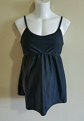 Motherhood Maternity Black One Piece Swimsuit Size Medium!