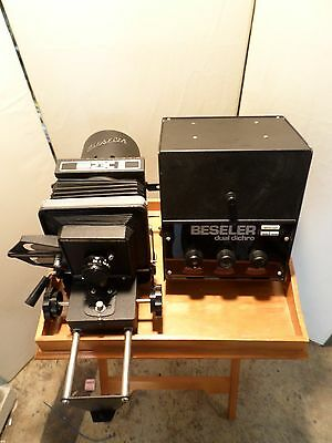 Pre-owned Beseler 23C II Enlarger w/2 neg.plates/enlarger tray/colorhead box