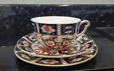 Royal Crown Derby Trio Tea Cup Saucer Side Plate Imari Pattern 2451 Tiffany & Co