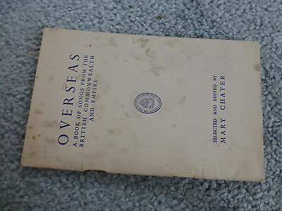 Vintage 1949 Girl Guides Overseas Book Of Songs From The British Commonwealth