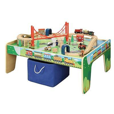 50 piece Train Set with Train Play Table Kids Childrens Boys Pretend Play Toys