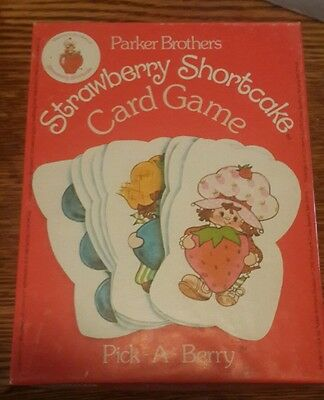 Vintage Strawberry Shortcake Pick-A-Berry Card Game 1979