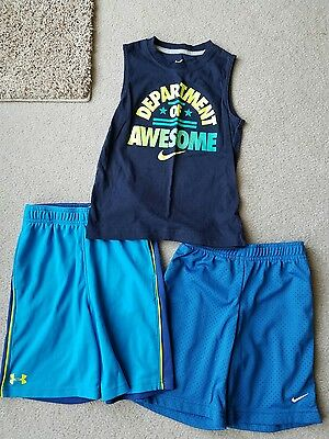 boys under armour nike lot  6 and 7 mint condition! Shorts and tank