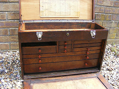 Neslein Wooden Engineers Machinist Tool Makers Toolmakers Cabinet Chest Box