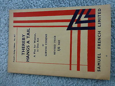 Vintage Girl Guide Book Of 'thereby Hangs A Tail' Play