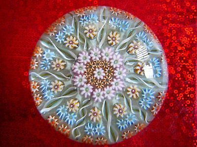 Vintage Perthshire Millefiori Glass Paperweight .