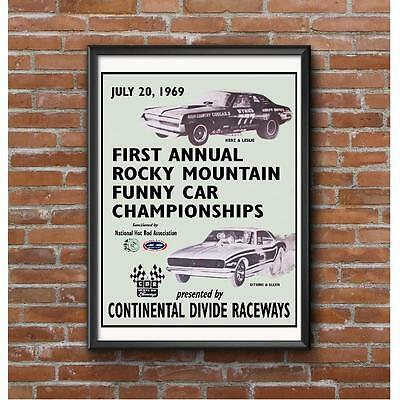 Rocky Mountain Funny Car Championships 1969 Event Poster - NHRA Continental