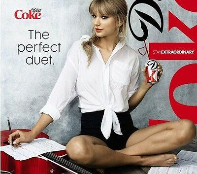 6 RARE TAYLOR SWIFT Diet Coke SLIM 12 oz Can FULL Collector's Limited Edition ��
