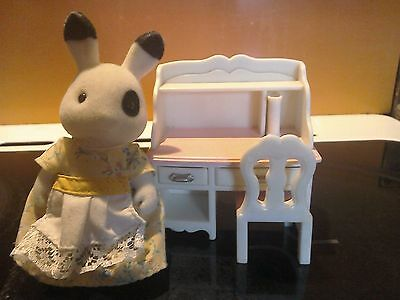 Sylvanian Families Blackberry Rabbit with Desk and Chair