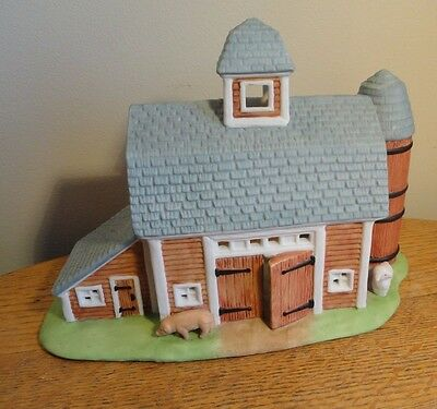 Partylite Meadow Brook Farm Barn Votive Tealight Candle Holder